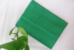 Khadi Silk with Thread Work Blouse Piece - Green