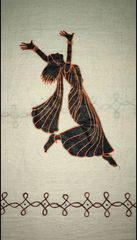 For Women By Women - Handwoven Cotton - Hand Painted - Dance with Abandon - Off white