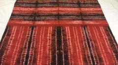 Shibori - Cotton - Hand dyed - Red & Black