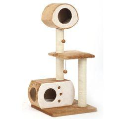 Multi-Level Fleece Cat House