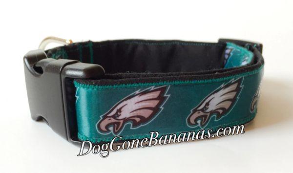 d5970fad5 Philadelphia Eagles NFL Dog Collar | DogGone Bananas | Dog Collars ...