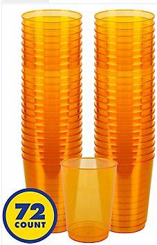 Big Party Pack Orange Plastic Cups, 10oz - 72ct