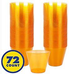 Big Party Pack Orange Plastic Cups, 9oz - 72ct