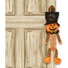 Bopping Buddies Jack-O-Lantern Door Hanger