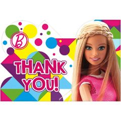 Barbie™ Sparkle Postcard Thank You Cards, 8ct