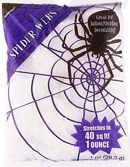 Value Pack Polyester Spider Webs, 1oz