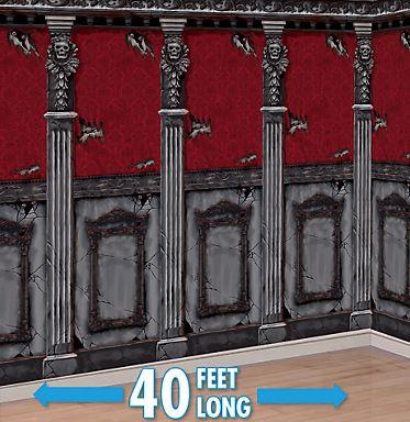 Gothic Mansion 2 Pack Scene Setter Plastic Room Roll