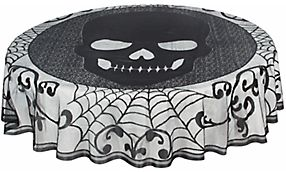 Skull Lace Round Table Cover