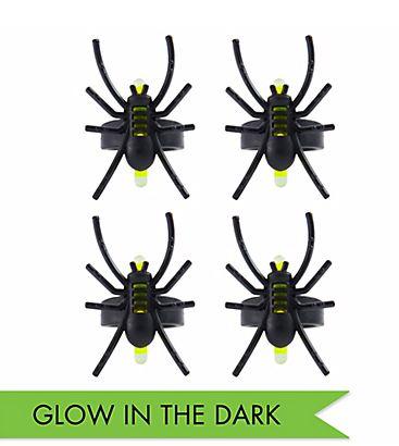 Spider Glow Ring - Plastic, 4ct