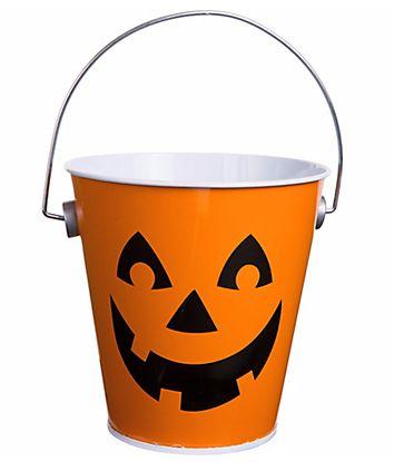 Jack-O-Lantern Metal Bucket