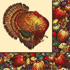 Autumn Turkey Luncheon Napkins, 20ct