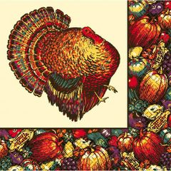 Autumn Turkey Dinner Napkins, 20ct