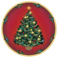 "Warmth Of Christmas Plates, 7"" - 8ct"