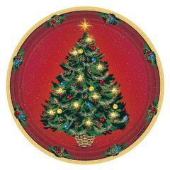 "Warmth Of Christmas Plates, 9"" - 8ct"