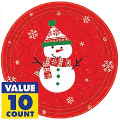 """Very Merry Lunch Plates, 9"""" - 10ct"""
