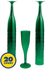 Big Party Pack Festive Green Champagne Flutes, 5.5oz - 20ct