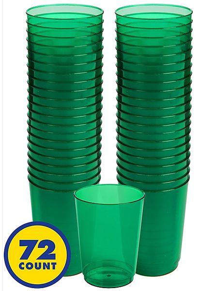 Big Party Pack Festive Green Plastic Tumbler, 10oz - 72ct