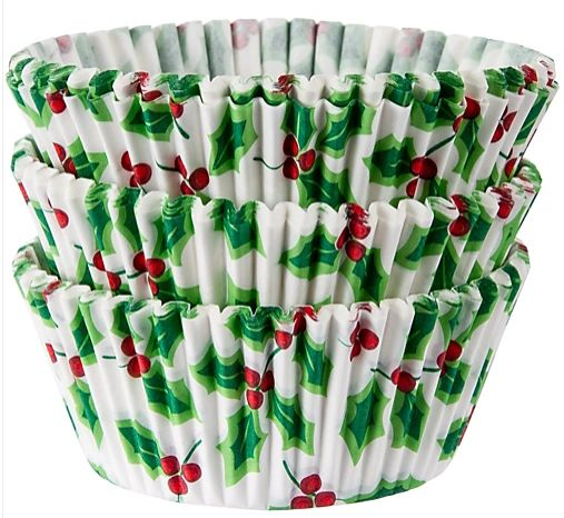 Christmas Standard Holly Baking Cups, 75ct
