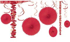 Paper & Foil Decorating Kits - Apple Red, 18pc