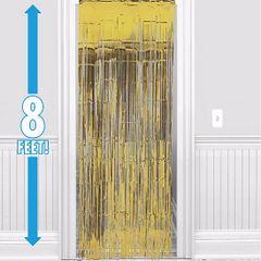 Gold Foil Metallic Curtain