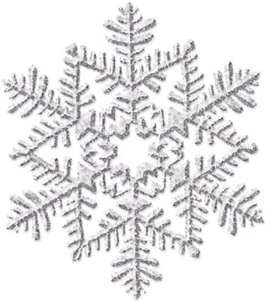 Small Glitter Plastic Snowflake Decoration - Silver