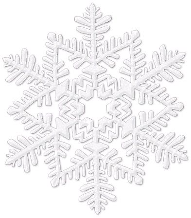 Small Glitter Plastic Snowflake Decoration - White