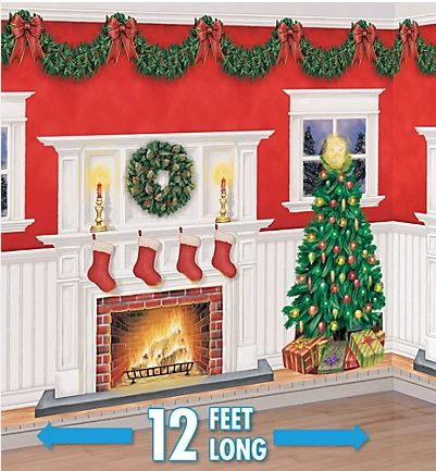 Christmas Giant Scene Setters Decorating Kit, 6pc