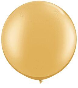 36IN_15 METALLIC GOLD QUALATEX| 1 CT