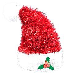 3-D Santa Hat Tinsel Decoration
