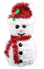 3-D Snowman Hanging Tinsel Decoration