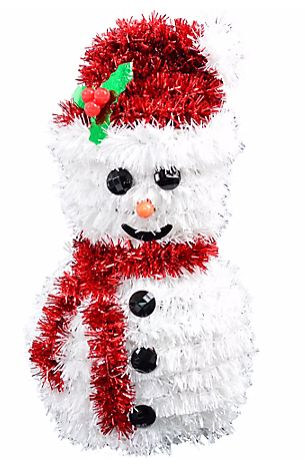 3-D Snowman Hanging Tinsel Decoration