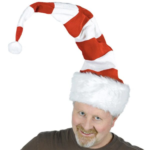 Striped Felt & Plush Bend To Shape Santa Hat