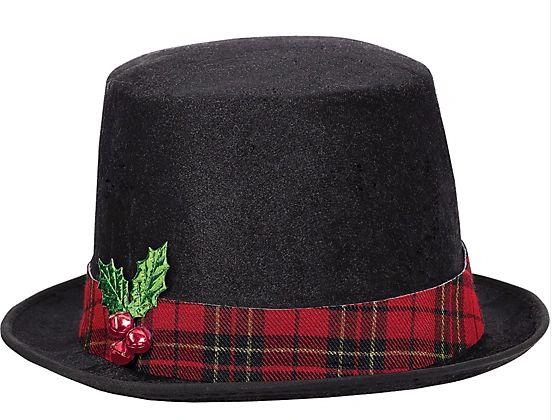 Snowman Fabric Top Hat