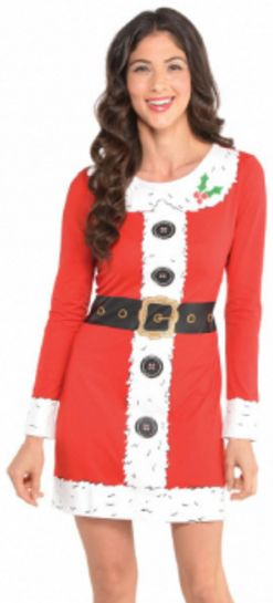 Santa Long Sleeve Dress - S/M, L/XL