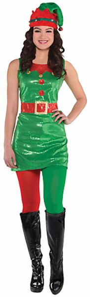 Elf Sequin Dress - Adult S/M, M/L