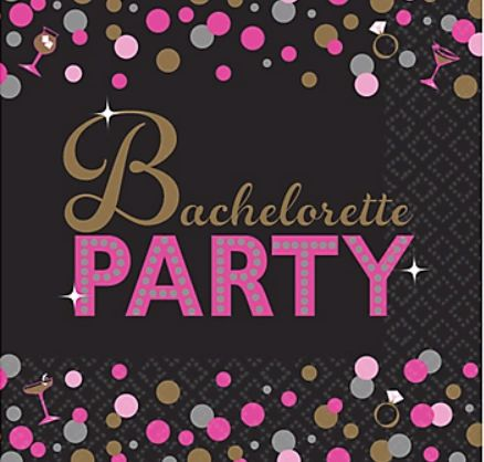 Bachelorette Night Beverage Napkins, 16ct
