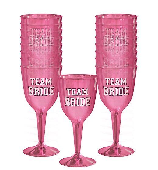 Team Bride Wine Glasses, 10oz - 16ct