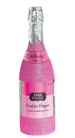 Team Bride Champagne Bottle Party Popper