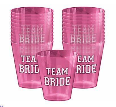 Team Bride Shot Glasses, 2oz - 40ct