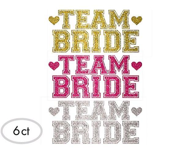 Team Bride Body Jewelry, 6ct
