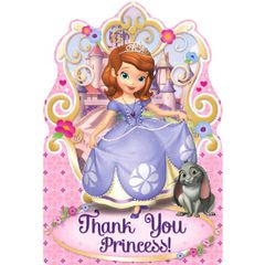 ©Disney Sofia The First Postcard Thank You Cards, 8ct