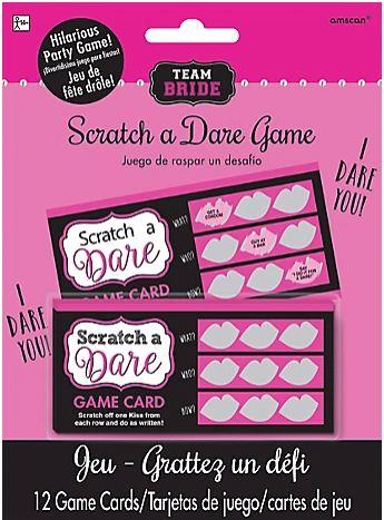 Team Bride Scratch A Dare Game
