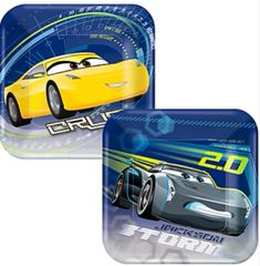"©DISNEY CARS 3 Dessert Plates, 7"" - 8ct"
