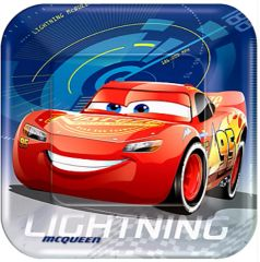 "©DISNEY CARS 3 Lunch Plates, 9"" - 8ct"