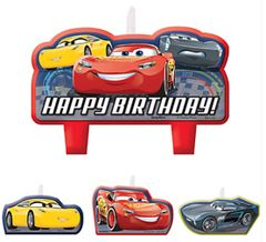 ©DISNEY CARS 3 Birthday Candle Set