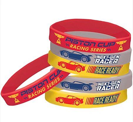©DISNEY CARS 3 Rubber Bracelets, 6ct
