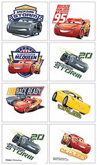 ©DISNEY CARS 3 - 8 Tattoos per Sheet