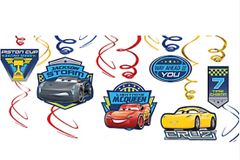 ©DISNEY CARS 3 Swirl Decorations, 12ct