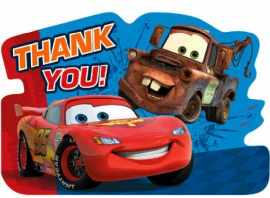 Cars 2© Thank You Notes, 8ct