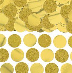 Glitter & Foil Circle Confetti - Gold